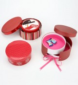 Round Candy Box Wedding With Silk Ribbon