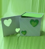 Birthday or Wedding Gift Box with Hollow Flower
