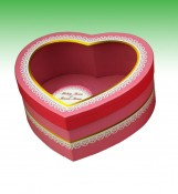 See Through Window Chocolate Heart Shaped Boxes