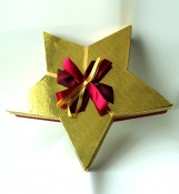 Ribbon Bear Christmas Gift Box With Silk Ribbon