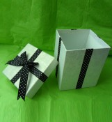 High Quality Gift Box with Ribbon in Lid Box