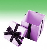 Gift Box Design With Ribbon