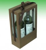 Elegant Hardboard Wine Bottles Box For Sale