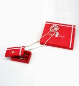 Red Jewelry Boxes for Necklace Packing